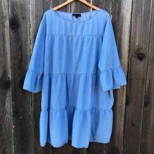 Lane Bryant Tiered Chambray Dress